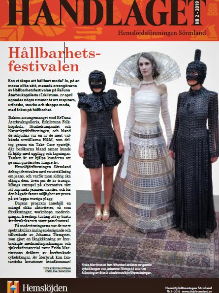 Handlaget, hemslöjdsföreningen Sörmland. Hållbarhetsfestival ReTuna.