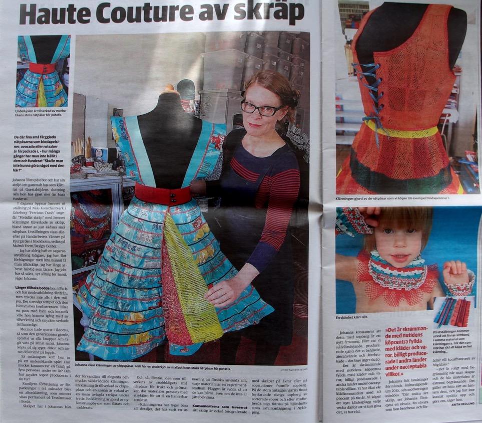 Sormlandsbygden haute couture av skräp 2016